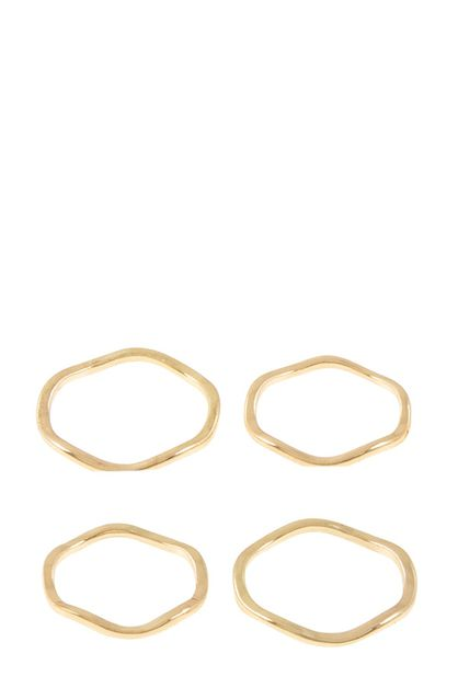 Curved ring set - orangeshine.com