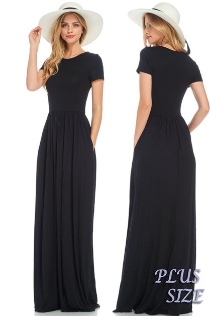 PLUS SIZE MAXI DRESS - orangeshine.com
