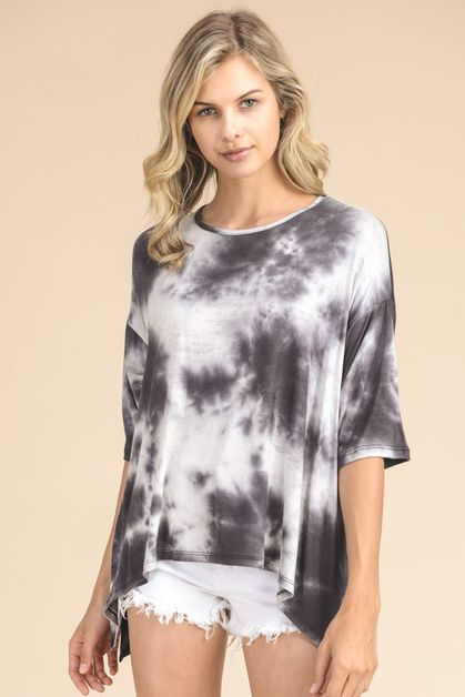 TIE DYE RAYON FABRIC TOP - orangeshine.com