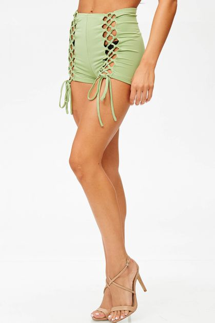 JERSEY LACE-UP BOOTY SHORT - orangeshine.com