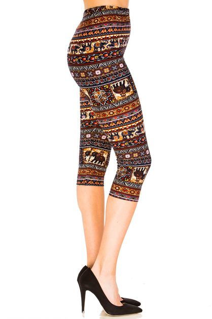 Elephant Party Capri Leggings - orangeshine.com