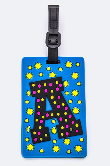 Initial A Jelly Bag and Luggage Tag - orangeshine.com