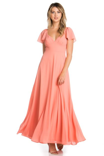 CUTE FORMAL MAXI DRESS - orangeshine.com