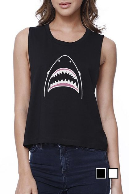 SHARK CROP TEE - orangeshine.com