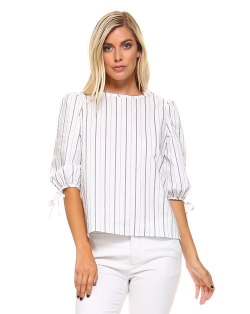 STRIPE BLOUSE - orangeshine.com