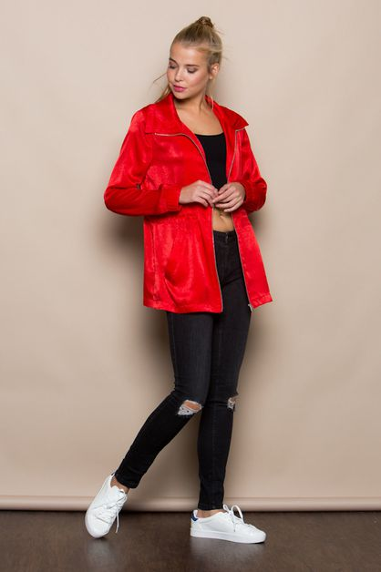 SATEEN PARKA WITH ADJUSTABLE WAIST  - orangeshine.com
