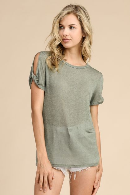 DIRTY WASHED FABRIC TOP - orangeshine.com