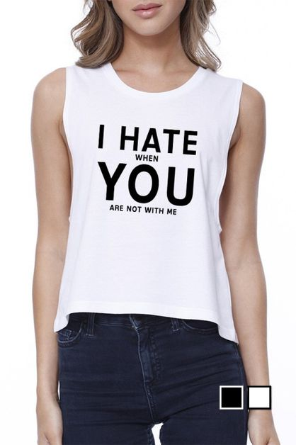 I Hate You  Crop Tee - orangeshine.com