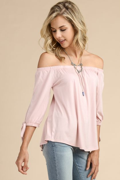 MODAL FABRIC OFF THE SHOULDER TOP - orangeshine.com