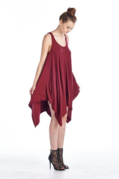 HANDKERCHIEF TUNIC DRESS - orangeshine.com