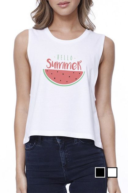 HELLO SUMMER WATERMELON CROP TEE - orangeshine.com