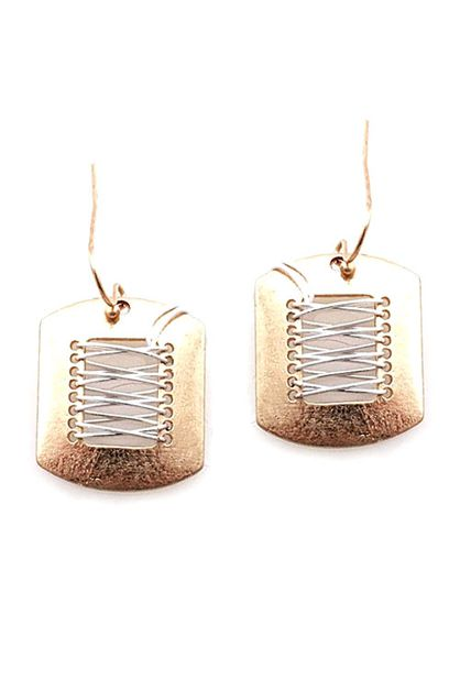 Geometric Mix Metal Earrings - orangeshine.com
