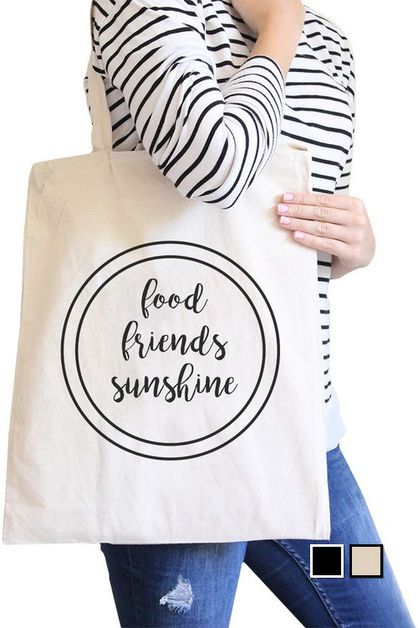 FOOD FRIENDS SUNSHINE CANVAS BAG - orangeshine.com