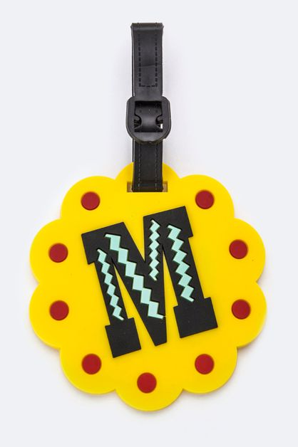 Initial M Jelly Bag and Luggage Tag - orangeshine.com