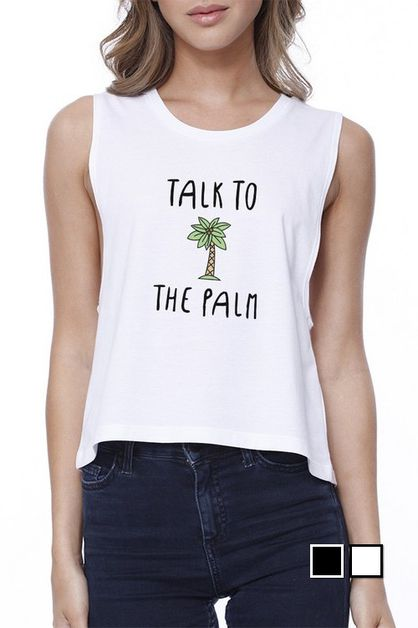 TALK TO THE PALM CROP TEE - orangeshine.com