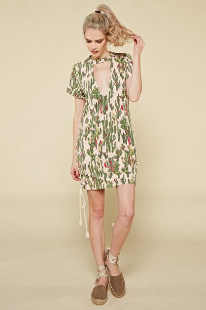 Cactus Dress with Side Tie - orangeshine.com