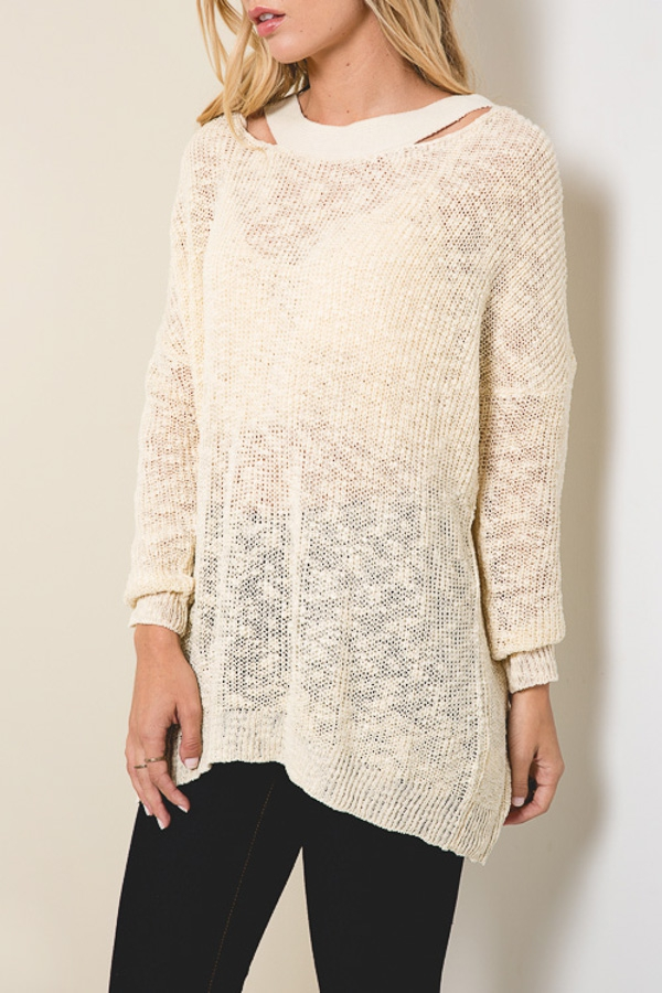 BACK OPEN  SWEATER - orangeshine.com