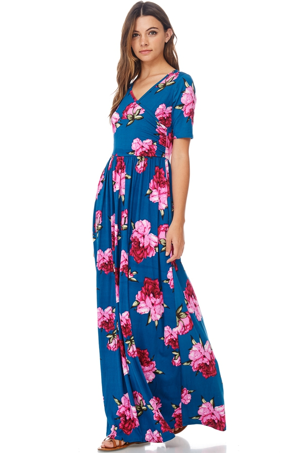 Floral Maxi Dress Wholesale