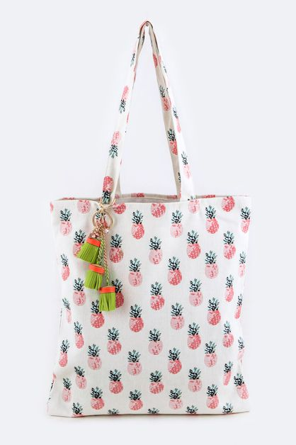 Pineapple Pattern Fashion Tote - orangeshine.com