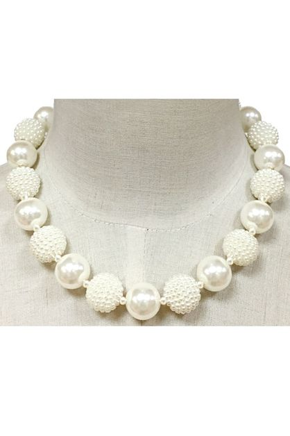 Pearl Wrapping Ball Necklace Set - orangeshine.com