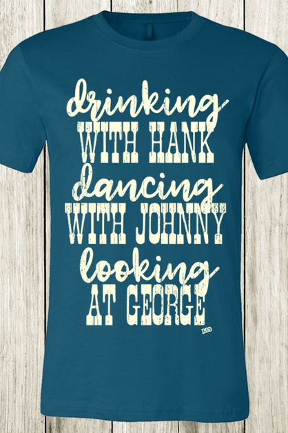 Drinking With Hank Country Music Tee - orangeshine.com