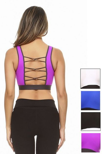 Loop Back Sports Bra - orangeshine.com