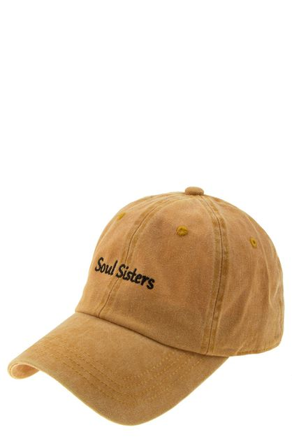 Soul sister embroidered cap - orangeshine.com
