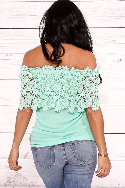 OFF SHOULDER LACE TOP - orangeshine.com