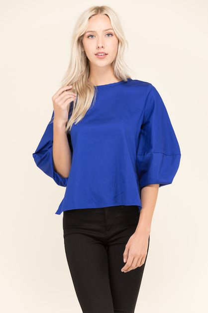 BUBBLE SLEEVE TOP - orangeshine.com