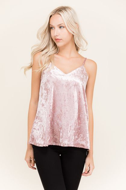 CRUSH VELVET TANK - orangeshine.com