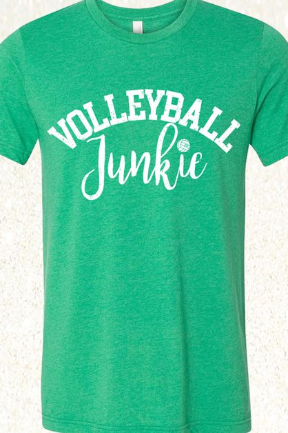 Volleyball Junkie Green-Blue-Purple - orangeshine.com