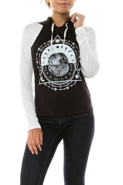 Sun and Moon Graphic Hoodie - orangeshine.com
