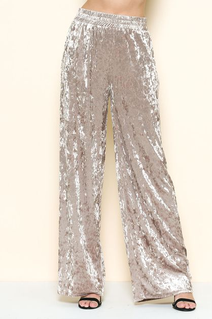 CRUSHED VELVET PANTS - orangeshine.com