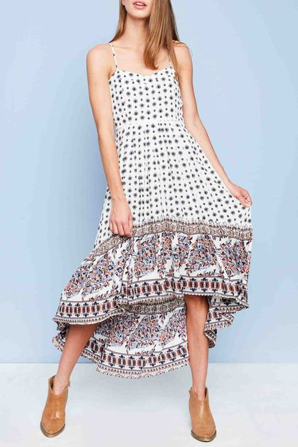 BORDER PRINTED DRESS - orangeshine.com