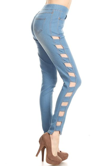Cut out fashion jeans - orangeshine.com