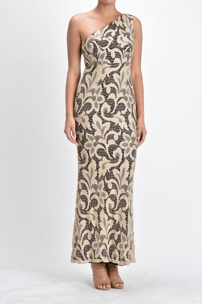 floral maxi gown formal dress - orangeshine.com