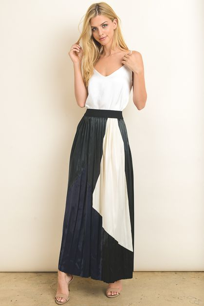 Patch style Maxi skirt - orangeshine.com