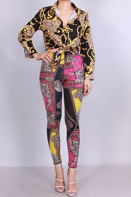 MULTI COLOR PRINTED LEGGINGS PANTS - orangeshine.com