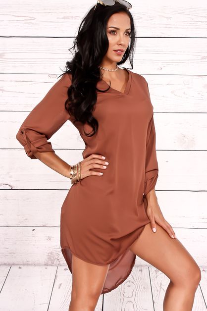 VNECK CASUAL DRESS - orangeshine.com