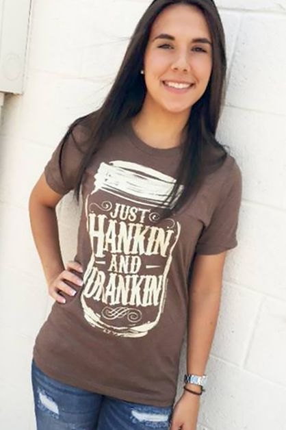 Just Hankin and Drankin Soft Tee - orangeshine.com