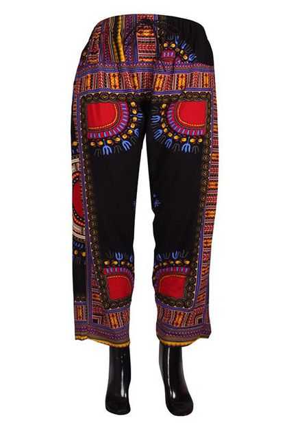 Dashiki Loose Pants - orangeshine.com