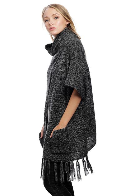 Knitted Poncho - orangeshine.com