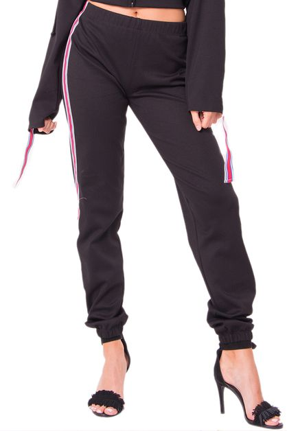 SIDE PIPPING JOGGER PANTS - orangeshine.com