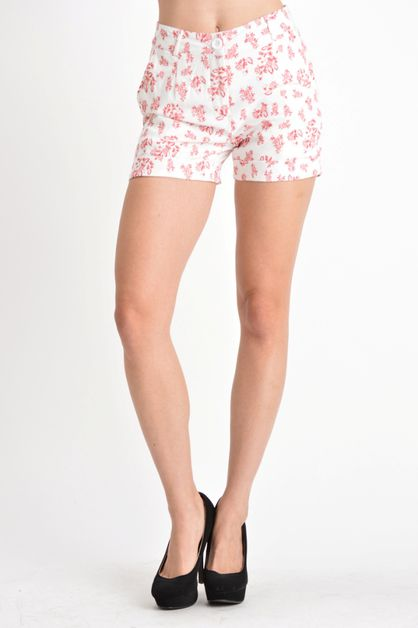 casual stretch print shorts - orangeshine.com