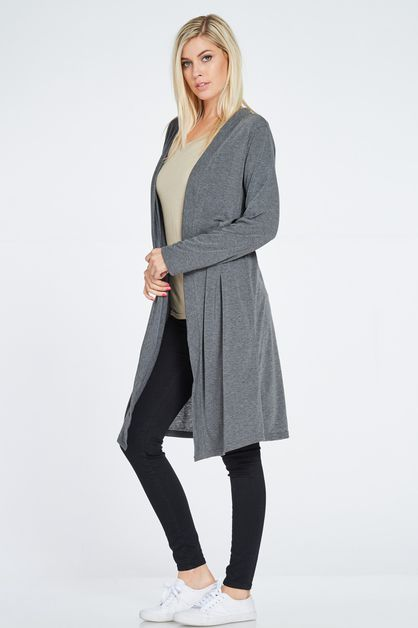 BACK MID SLIT CARDIGAN - orangeshine.com