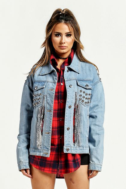 Denim Stud Jacket - orangeshine.com