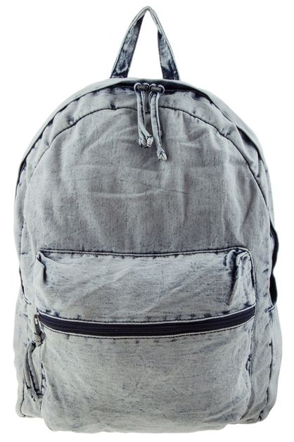 Washed denim backpack - orangeshine.com