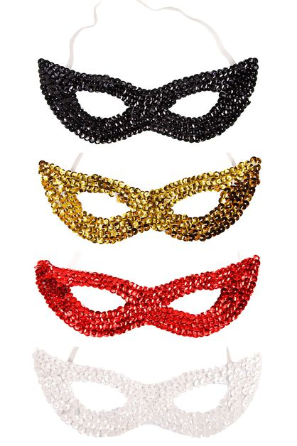 Sequin Masks - orangeshine.com