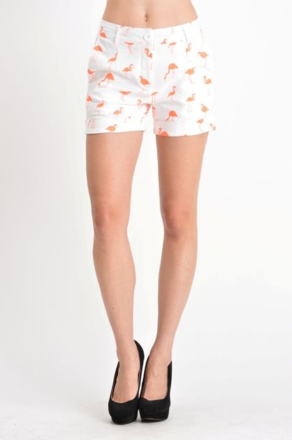 casual print stretch shorts - orangeshine.com