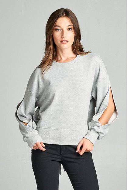SHORT SWEATSHIRT TOP  - orangeshine.com
